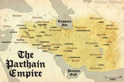 the parthian empire map 1