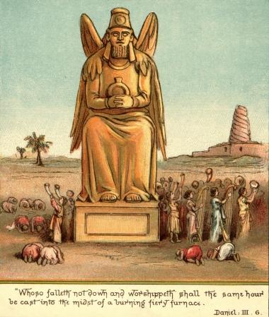people_forced_to_worship_idol_by_king_nebuchadnezzar Daniel 3:6