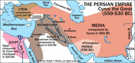 Persian Empire map Cyrus