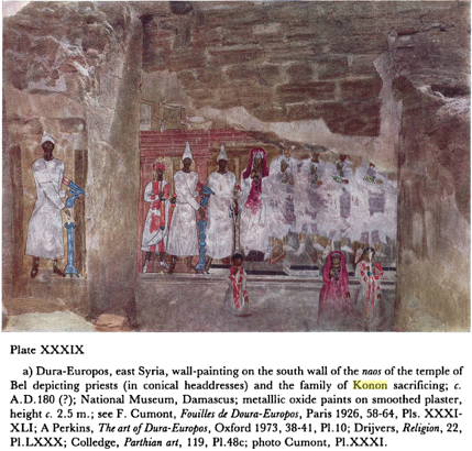 dura europos temple of bel baal family of konon