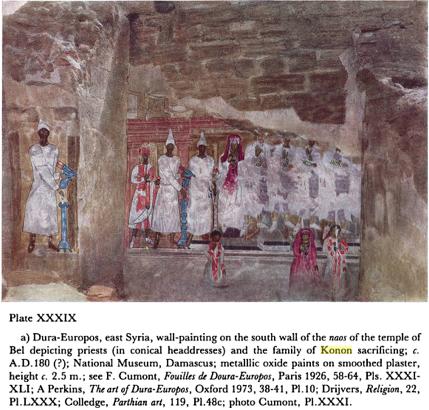 dura europos temple of bel baal family of konon