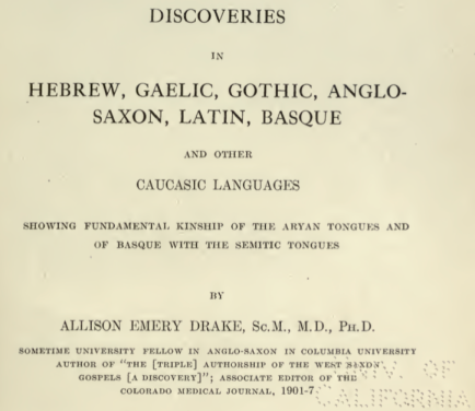 hebrew related to aryan and basque languages of the scythians