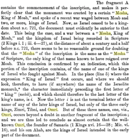 The Moabite Stone: (the Contemporary Rev.)