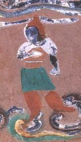 An Aryan/Iranian Saka-Scythian depicted on a Dunhuang Cave mural