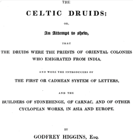 celtic druids emigrated from india by gadfly higgins
