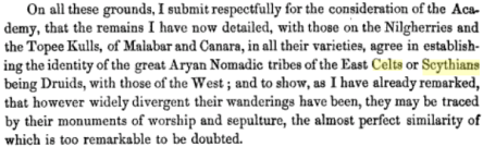 Descriptions of Cairns, Cromlechs, Kistvaens, and Other Celtic, Druidical, o Scythian Monuments in the Dekhan, By Meadows Taylor, PG 362