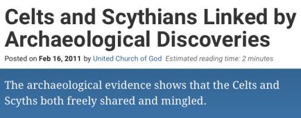 celts and scythians linked
