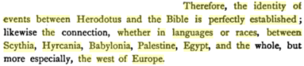 Origin of the Western nations & languages, By Charles Lassalle, PG 386