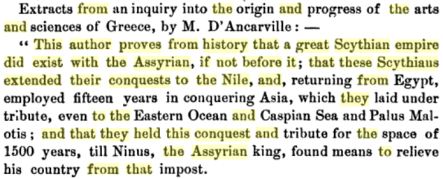 scythian empire did exist with the assyrian