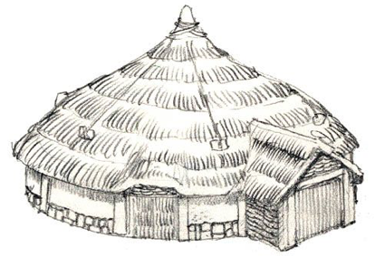 Sketch of a European Scythian dwelling