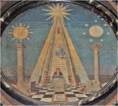 masonic three pillars warrior on the block
