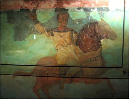 black scythian horseman