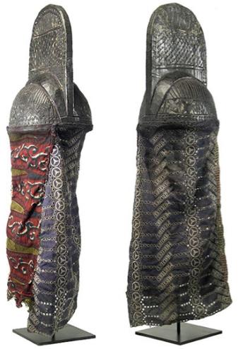 yoruba helmet trefoil triskele triskelion