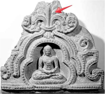 buddha trefoil fleur de lis