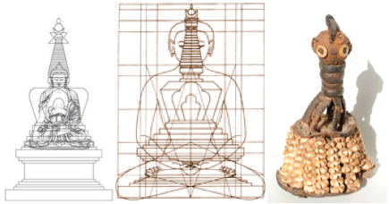 buddha stupa temple body ori inu conical crown