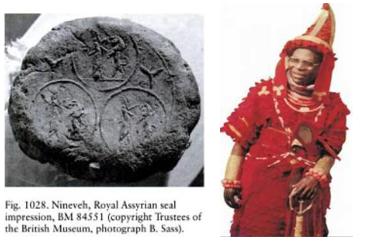 royal assyrian seal triquetra west african yoruba scythian