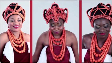red coral yoruba women