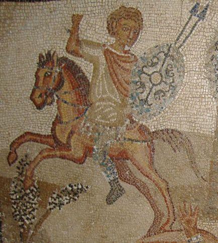 roman fresco horse rider