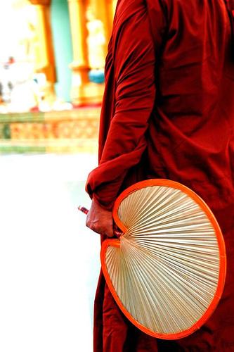 buddhist ceremonial fan