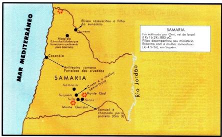 samaria foi edificada por Onri rei de Israel 885 aC antes de Christo (BC)