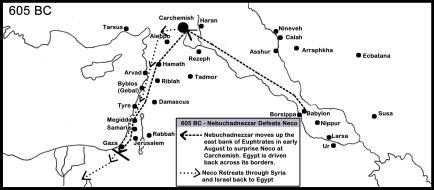 605 BC carchemish battle map