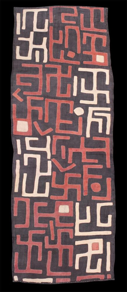 kuba people congo swastika cloth design