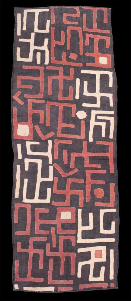kuba people congo swastika cloth design