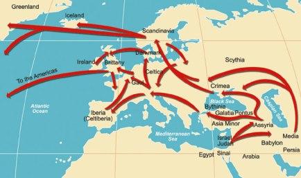 hebrew israelites scythian migration map