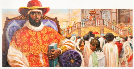 africandemocracy red gold outfit papacy papal colors catholic