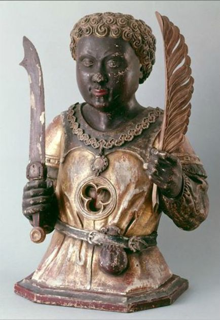 Anonymous German Artist Reliquary Bust of a Young Black Saint