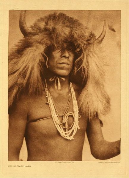 native america tribe of gad israelite scythian baal bull bison buffalo horned head dress hyperborean