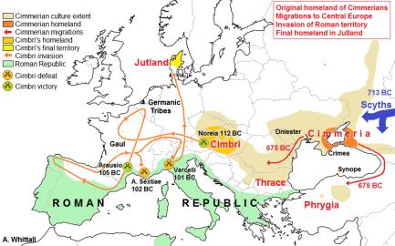 cimmerian migration map