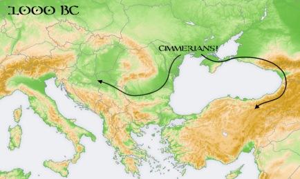 cimmerians scythians map