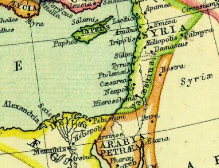 syria palestine israel combined territory map
