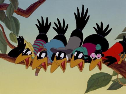 Dumbo black magpies negroes black birds