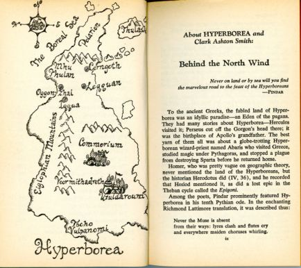 hyperborean map beyond the north wind