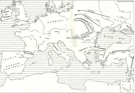 Israelite european migrations map