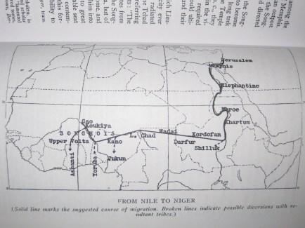 Israelite Jews jewish northern tribes exile refugee Migration Map from nile to niger west africa ashanti benin yoruba igbo battle of carchemish