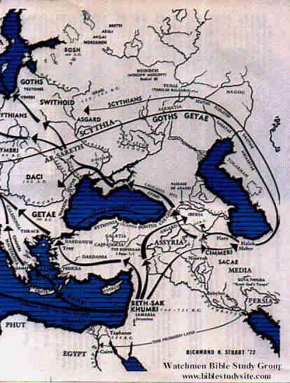 israelite migration map