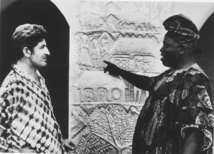 Ataoja Adenle & Ulli Beier, Osogbo Palace, Early 1960s