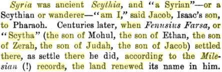 The Romance of History: Lost Israel Found, By Charles Adiel Lewis Totten, PG 200