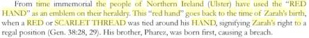 re hand of zarah ulster scarlet thread