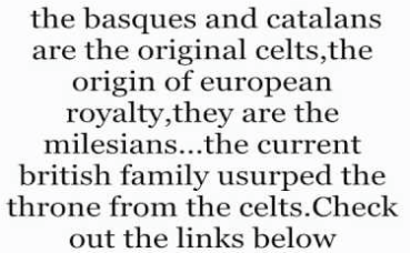 basque and catalans of spain are original celts