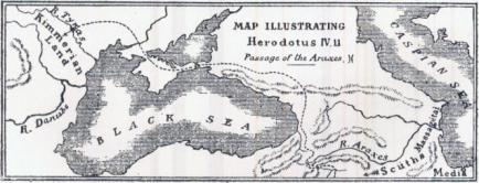 herodotos cimmerian kimmerian land map