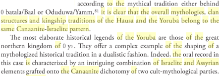 Ancient Kingdoms of West Africa: African-centred and Canaanite-Israelite Perspectives, By Dierk Lange, PG 239