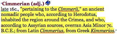 online etymology dictionary cimmerian 3