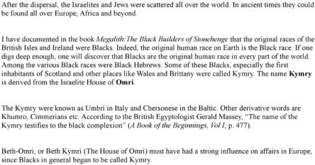 The Black Hebrews and the Black Christ, Volume 2, By Aylmer von Fleische, Contents