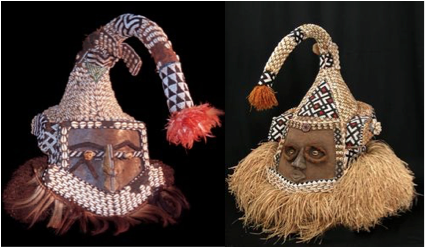 Beaded Mask (Mukyeem) from the Bushoong People -Kuba-Republic of Congo People