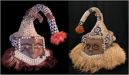 Beaded Mask (Mukyeem) from the Bushoong People -Kuba-Republic of Congo People