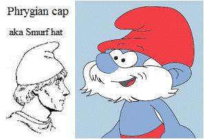 phrygian cap smurf hat